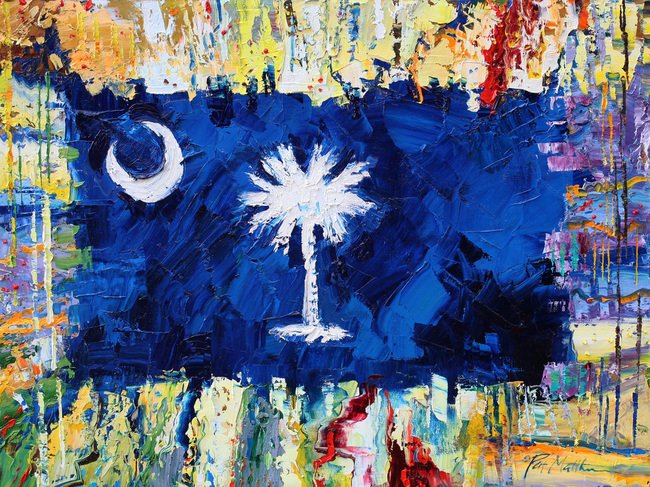 Palmetto Flag Abstract