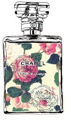 Chanel Bottle with Floral