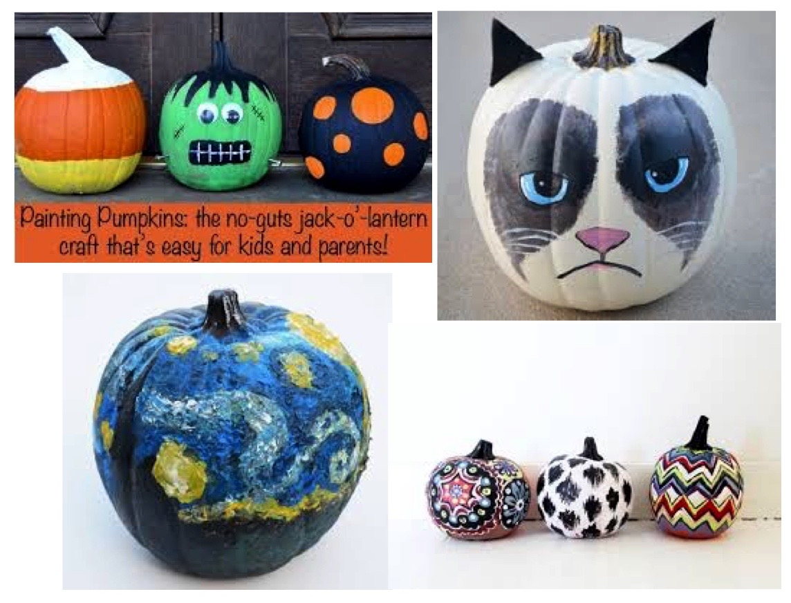 Freestyle Pumpkin Painting ANY TIME THIS MONTH!  No reservations needed.