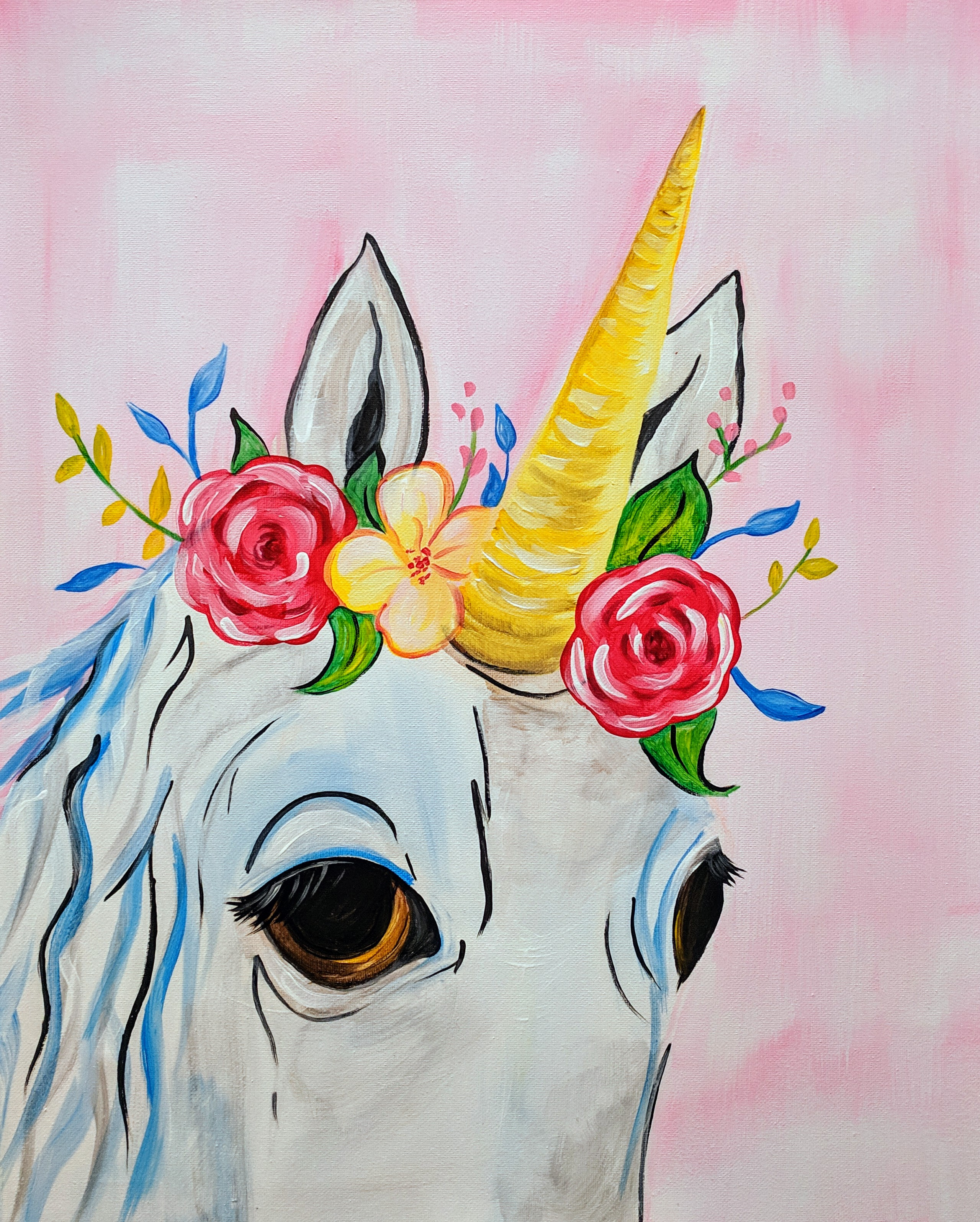 Unicorn with Headdress